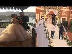 العرب اليوم - شاهد دخول أسطوري لعمرو يوسف وكندة علوش خلال حفل الزفاف