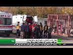 العرب اليوم - بالفيديو مقتل وجرح العشرات من المواطنين في انفجار عنيف شمال الباب