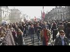 فلسطين اليوم - بالفيديو  مظاهرة في نانت الفرنسية احتجاجًا على زيارة مارين لوبن