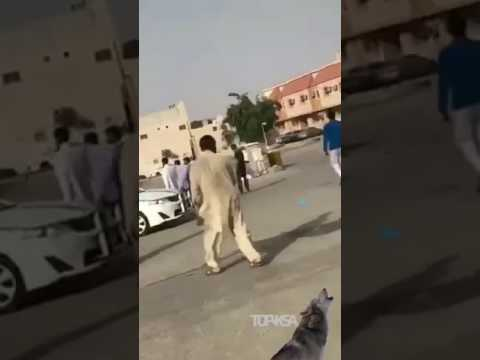 فلسطين اليوم - شاهد شاب متهوّر يصدم رجلًا مسنًا في الرياض
