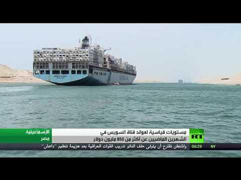 فلسطين اليوم - شاهد عائدات قناة السويس تسجل مستوى قياسيًا