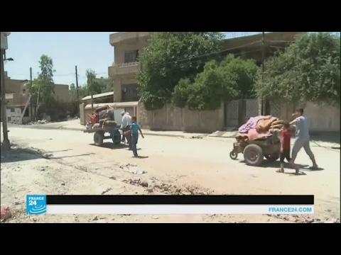 فلسطين اليوم - بالفيديو عائلات عراقية تعود إلى الأحياء المحرّرة في الموصل