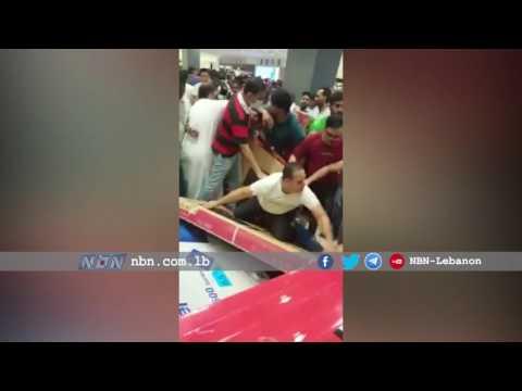 فلسطين اليوم - بالفيديو  تخفيضات مركز تجاري في أبوظبي تثير جنون العملاء