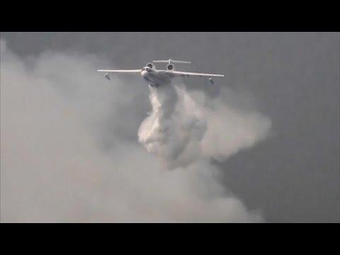 فلسطين اليوم - شاهد انتشار حرائق الغابات في سيبيريا