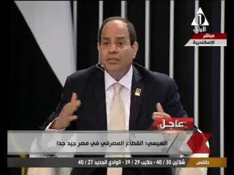 فلسطين اليوم - شاهد الرئيس السيسي يؤكّد أنّ القطاع المصرفي في مصر جيّد جدًا