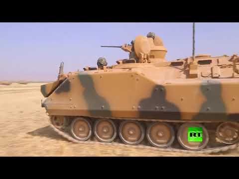 فلسطين اليوم - شاهد بدء مناورات الجيش التركي على الحدود مع العراق