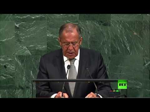 فلسطين اليوم - شاهد كلمة وزير الخارجية الروسي سيرغي لافروف أمام الأمم المتحدة