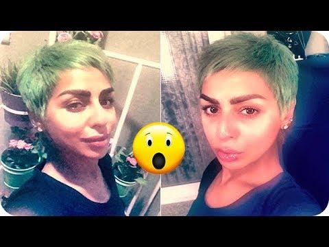 فلسطين اليوم - شاهد هند البلوشي تصدم الجميع وتصبغ شعرها بلون أخضر