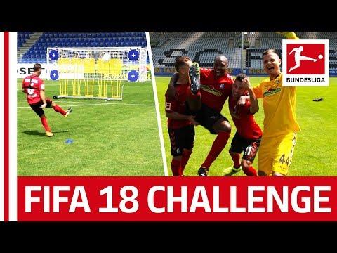 فلسطين اليوم - شاهد لاعبو فرايبورغ يشاركون في تحدى التسديد