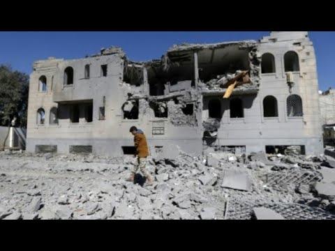 عشرات الجرحى والقتلى في غارات ليلية للتحالف على اليمن