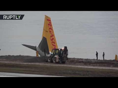 نجاة 170 راكبًا بأعجوبة من كارثة جوية في تركيا