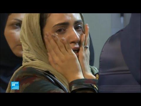 شاهد حزن وغضب يصيب عائلات ضحايا ناقلة النفط الإيرانية