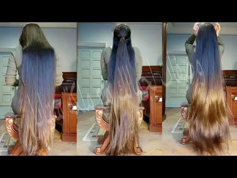 شاهد طريقة لإطالة شعرك ليصل للأرض