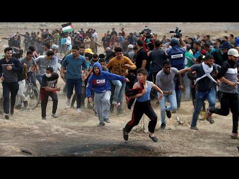 شاهدمقتل فلسطينيين خلال تجدد المظاهرات على حدود غزة