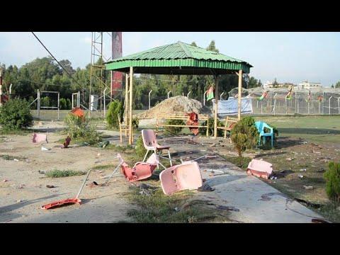 شاهد تفجيرات تستهدف مباراة للكريكت في شرق أفغانستان