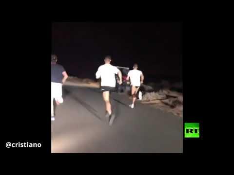 شاهد البرتغالي رونالدو في صحراء دبي
