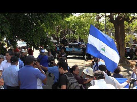 شاهد المعارضة تتحدى منع التظاهر في نيكاراغو