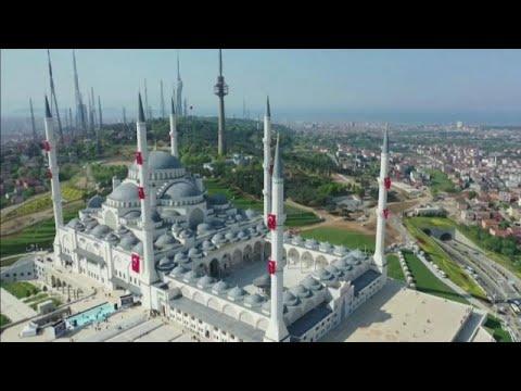افتتاح أكبر مسجد في تركيا بحضور أردوغان