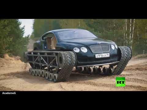 تحويل السيارة الكوبية الرياضية بنتلي إلى دبابة