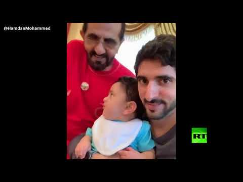شاهد حاكم دبي يتربع على عرش تويتر بفيديو جديد مع أحفاده