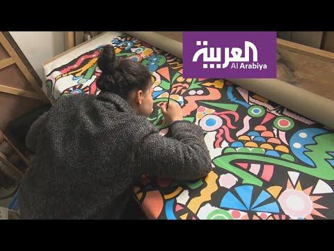 شاهد لوحاتُ مشاهير بريشة مواهب مغربية شبابية