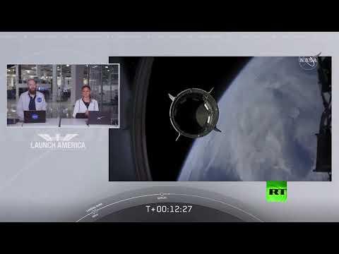 شاهد إطلاق ناجح لأول رحلة أميركية مأهولة إلى محطة الفضاء الدولية