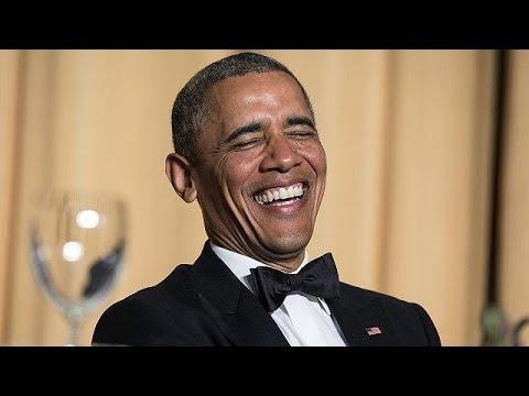 أوباما ينتقد عمل الإعلاميّين بالكثير من الدعابة