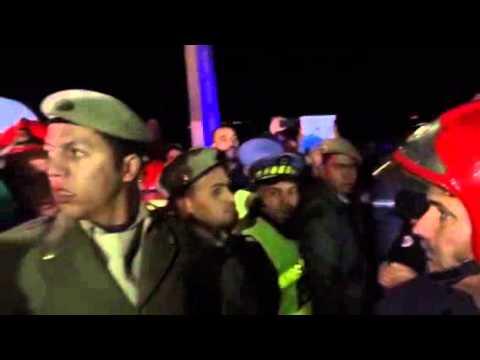 لحظة استخراج جثة الوزير المغربي من السكك الحديدية