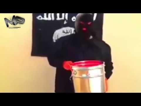 جهادي متطرف يستبدل دلو الثلج  ب دلو الدم