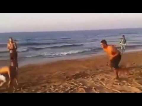 العرب اليوم - شاهد جيت سكي يطيح بشاب على أحد الشواطئ