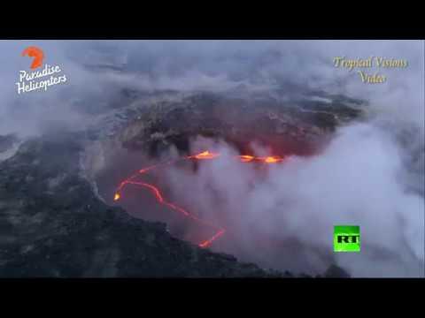 العرب اليوم - بالفيديو انهيار جرف بحري إثر تدفق الحمم البركانية في جزر هاواي الأمريكية