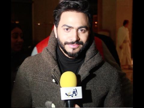 العرب اليوم - شاهد لحظة وصول الفنان تامر حسني إلى فندق الموفنبيك في مدينة طنجة