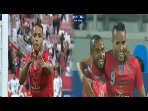 العرب اليوم - شاهد ثنائية يوسف العربي في شباك الجزيرة الإماراتي