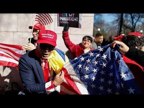 العرب اليوم - بالفيديو آلاف المواطنين الأميركيين يتظاهرون في عيد الرؤساء