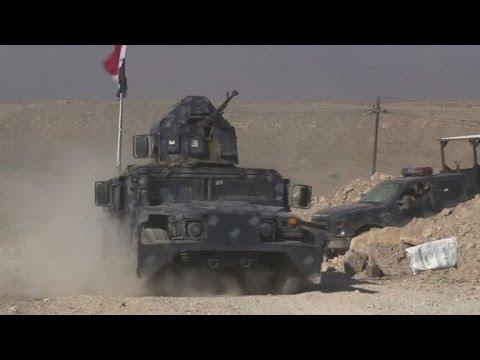 العرب اليوم - شاهد القوات العراقية تستعد لاقتحام مطار الموصل