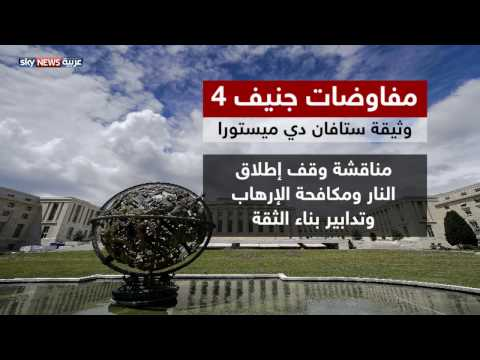 فلسطين اليوم - شاهد دي ميستورا يقدم إطارًا لمفاوضات جنيف