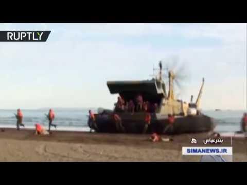 فلسطين اليوم - شاهد مناورات بحرية إيرانية واسعة في المحيط الهندي