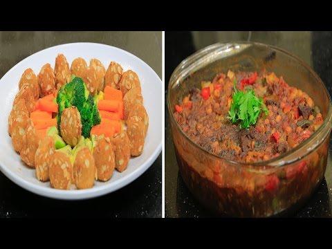 فلسطين اليوم - بالفيديو طريقة إعداد ومقادير حمص باللحم  كرات الدجاج باللوز كبدة بالبصل
