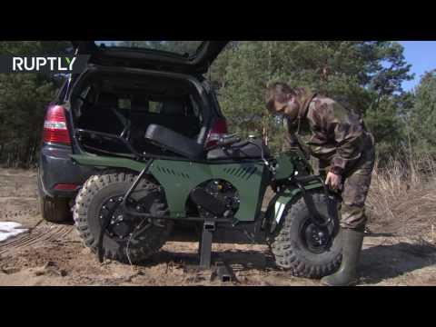 فلسطين اليوم - بالفيديو اختبار دراجة نارية رباعية الدفع في كالوغا الروسية