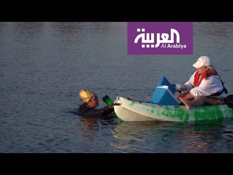فلسطين اليوم - بالفيديو السبّاحة السعودية مريم بن لادن تؤكّد أنها تسبح من أجل سورية