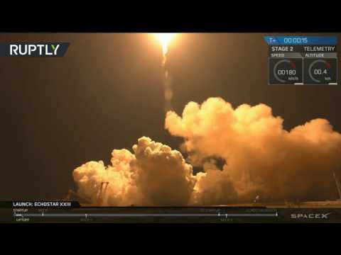 فلسطين اليوم - شاهد إطلاق ناجح لصاروخ فالكون 9 الأميركي