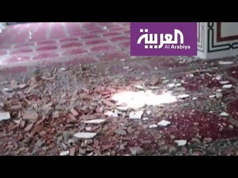 فلسطين اليوم - بالفيديو ميليشيا الحوثي تقصف مسجدًا أثناء صلاة الجمعة في مأرب