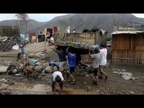 فلسطين اليوم - شاهد الفيضانات الشديدة تجتاح بيرو