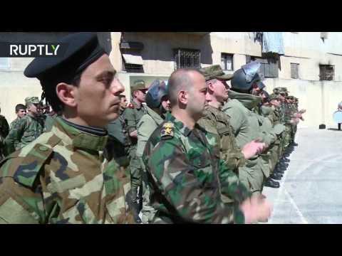 فلسطين اليوم - شاهد تخريج دفعة عسكريين للتنقيب عن الألغام في حلب