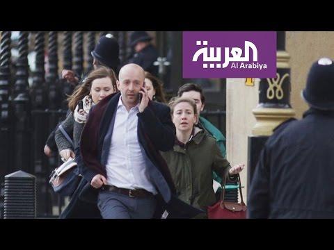 فلسطين اليوم - شاهد صور من هجمات لندن أمام البرلمان