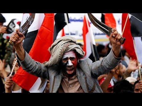 فلسطين اليوم - بالفيديو مظاهرة حاشدة في صنعاء في الذكرى الثانية على بدء الحملة العسكرية للتحالف العربي