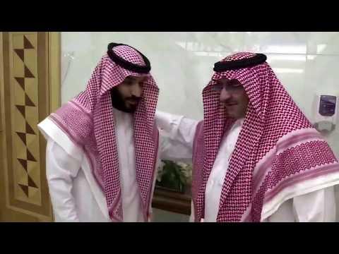 فلسطين اليوم - شاهد الأمير محمد بن نايف يبايع الأمير محمد بن سلمان