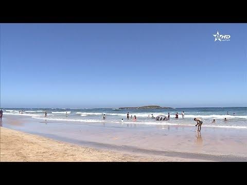 فلسطين اليوم - شاهد اللواء الأزرق يرفرف للمرة الـ 10 على شاطئ الصخيرات