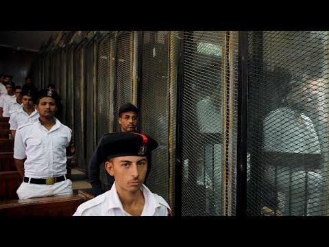 فلسطين اليوم - شاهد إعدام 28 مصريًا لتورطهم في حادث اغتيال النائب العام السابق