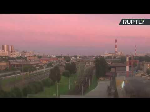 فلسطين اليوم - شاهد مقاطع جديدة لخسوف جزئي للقمر في سماء موسكو
